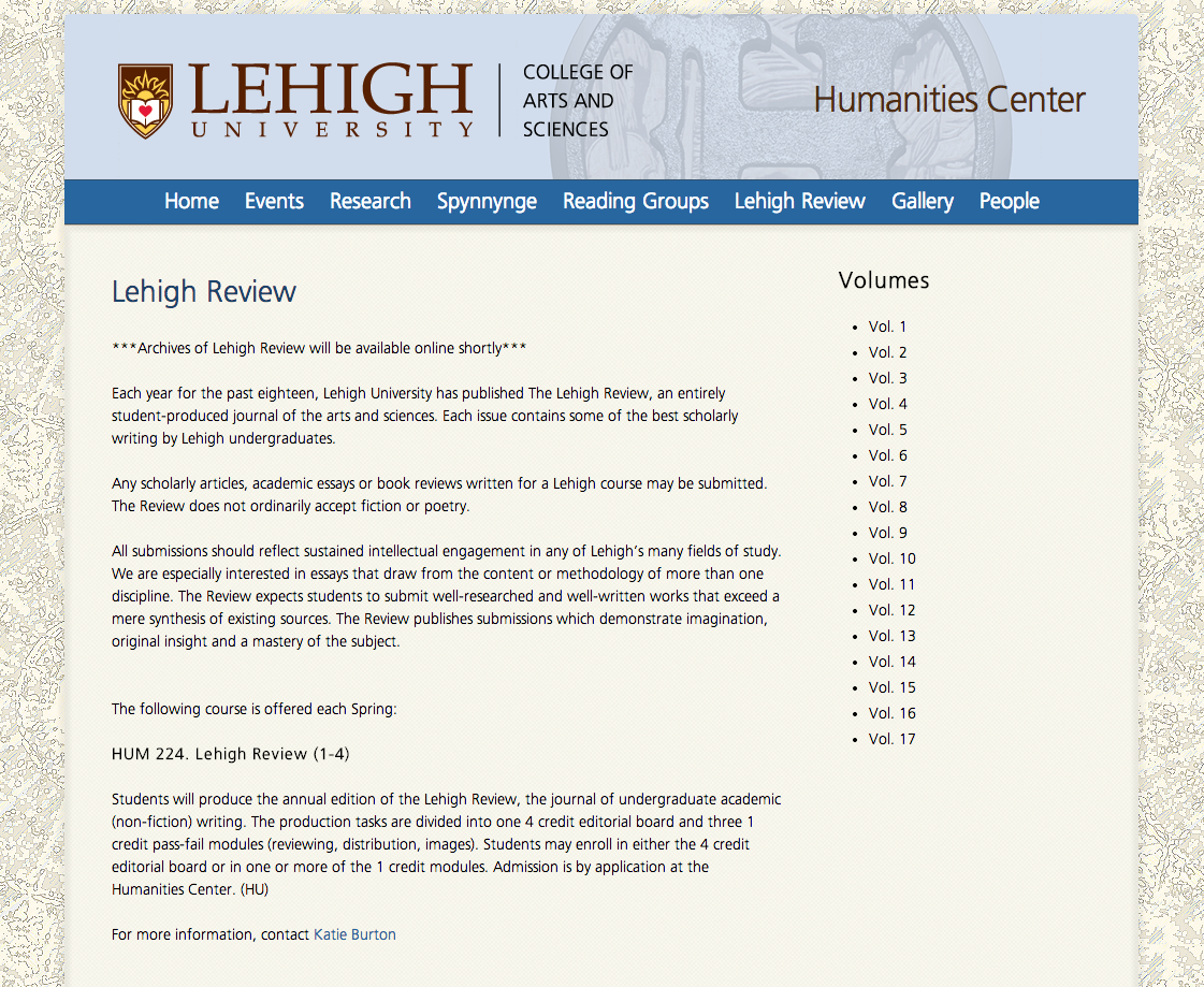 Lehigh University Religion - The Lehigh Review