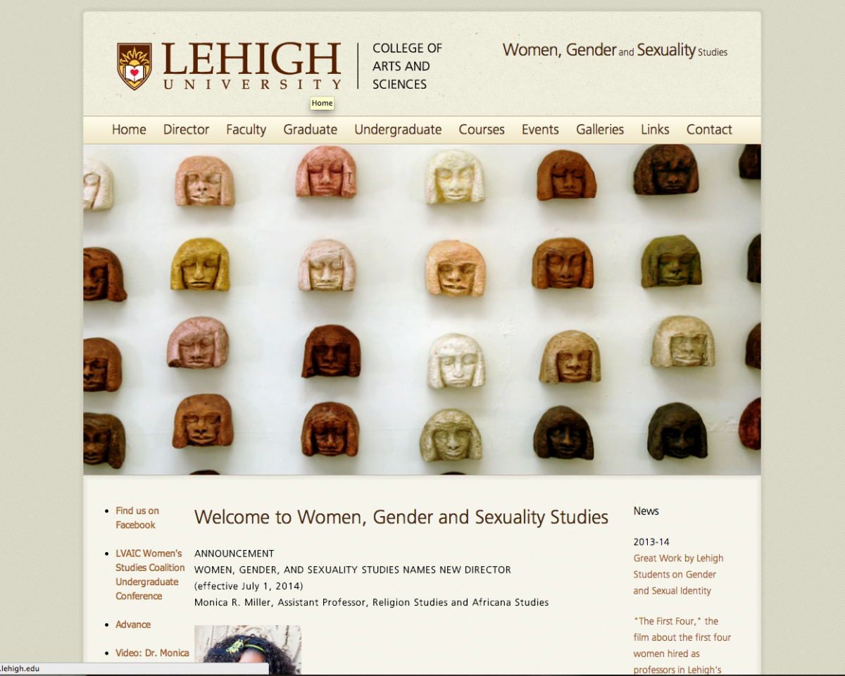Lehigh University Religion - Women, Gender, and Sexuality Studies